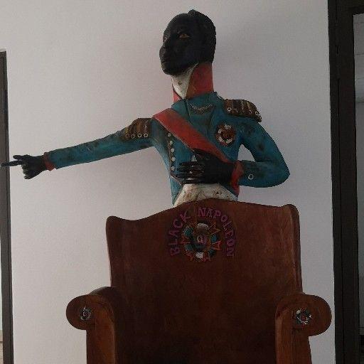 Antique sculptured wooden chair