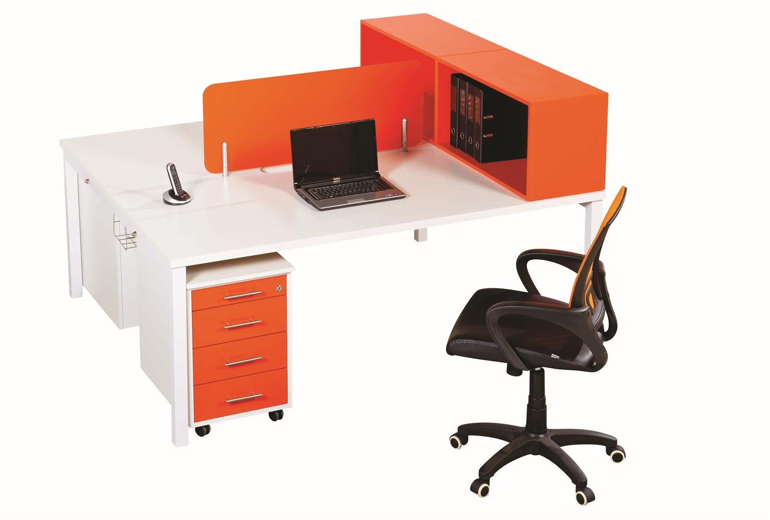 Call Centre Cluster Desks - Filing Cabinets