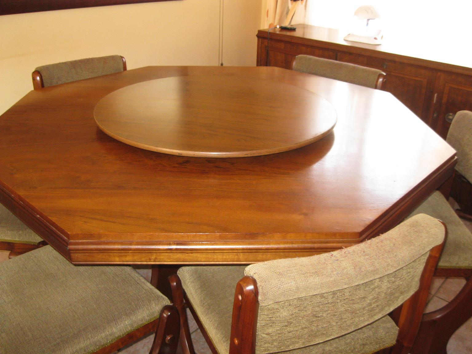 Solid Imbuya dining room set