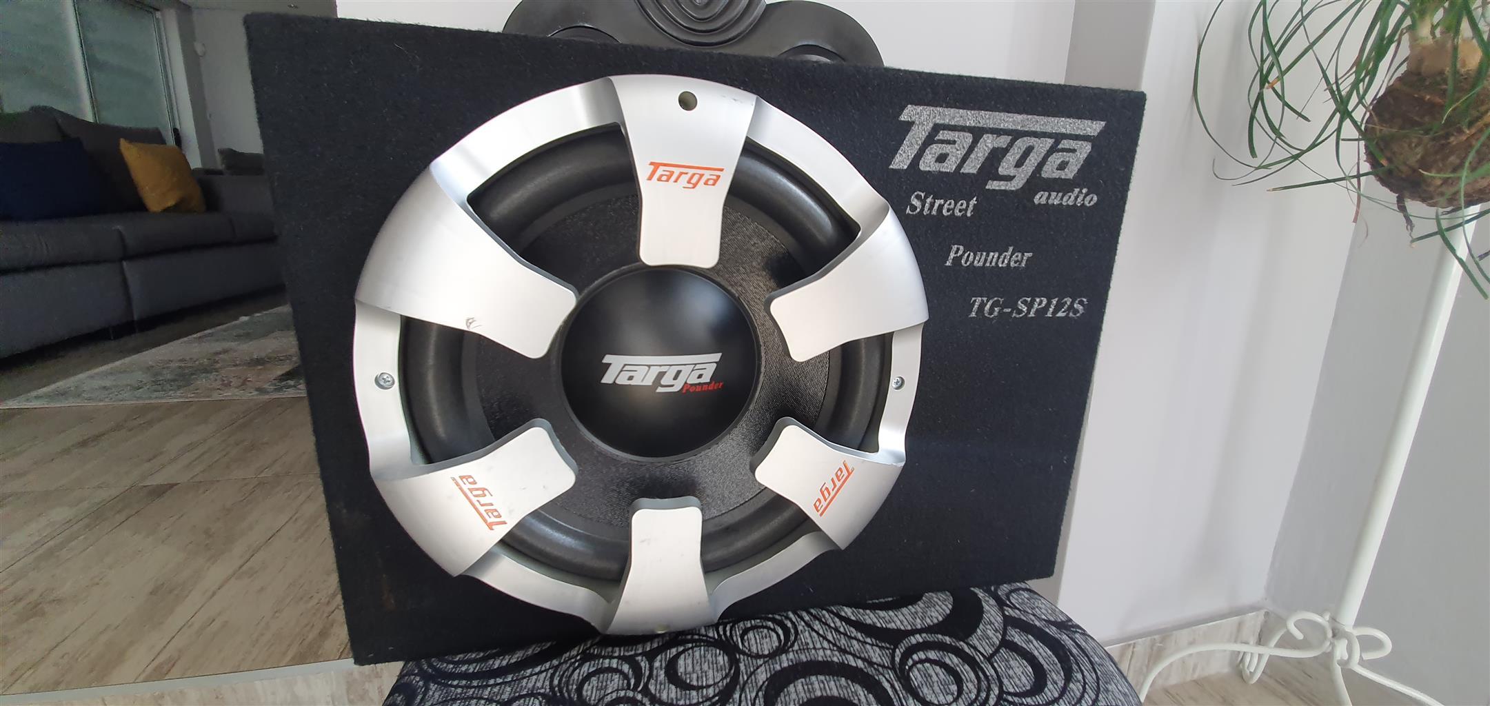 Car sound targa sub woofer including box 9000w amplifier
