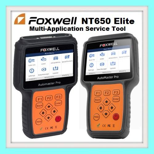 Foxwell NT650Elite Multi-Application Service Tool Latest 2019 version