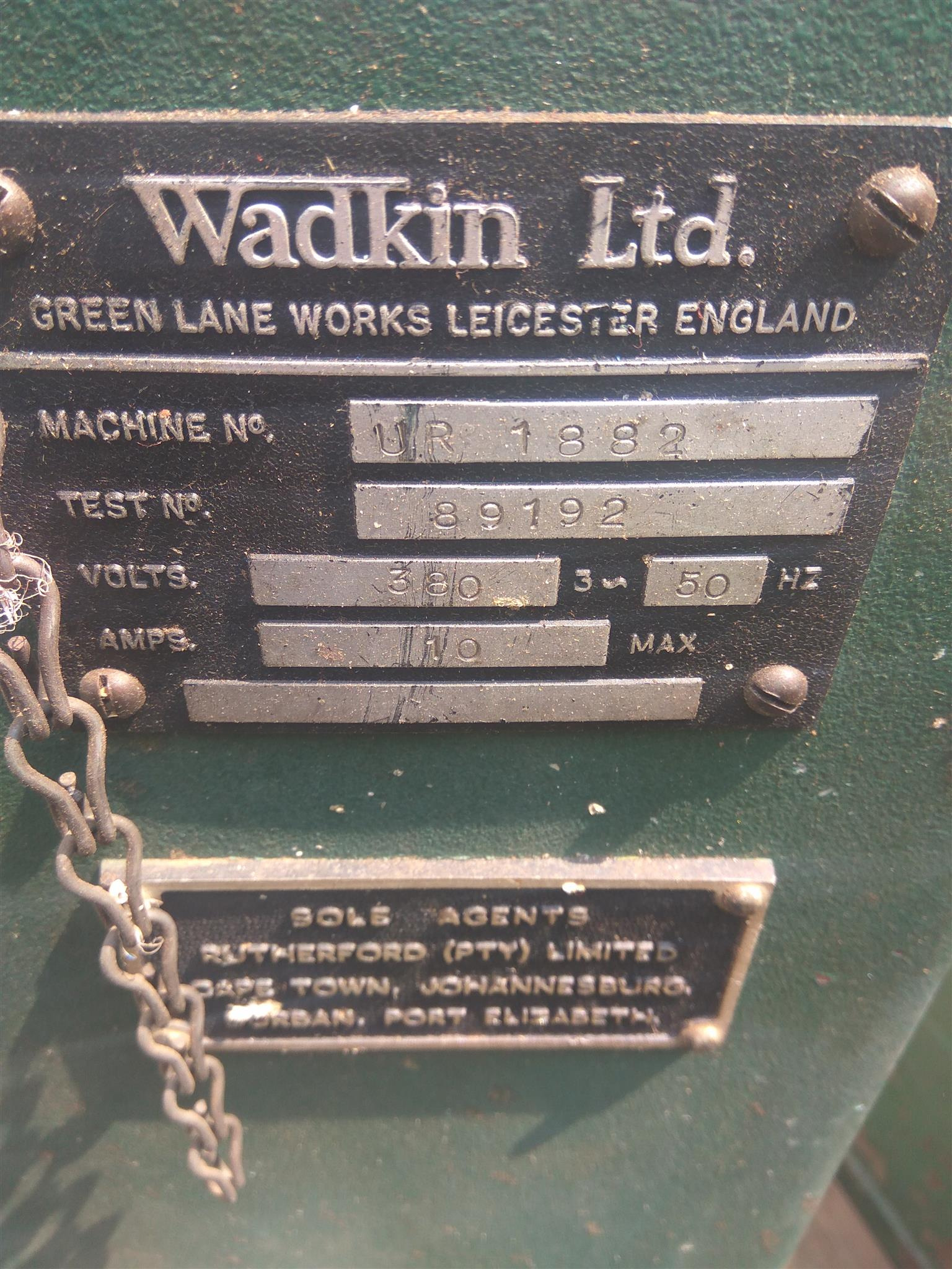 Wadkin overhead Routers for sale