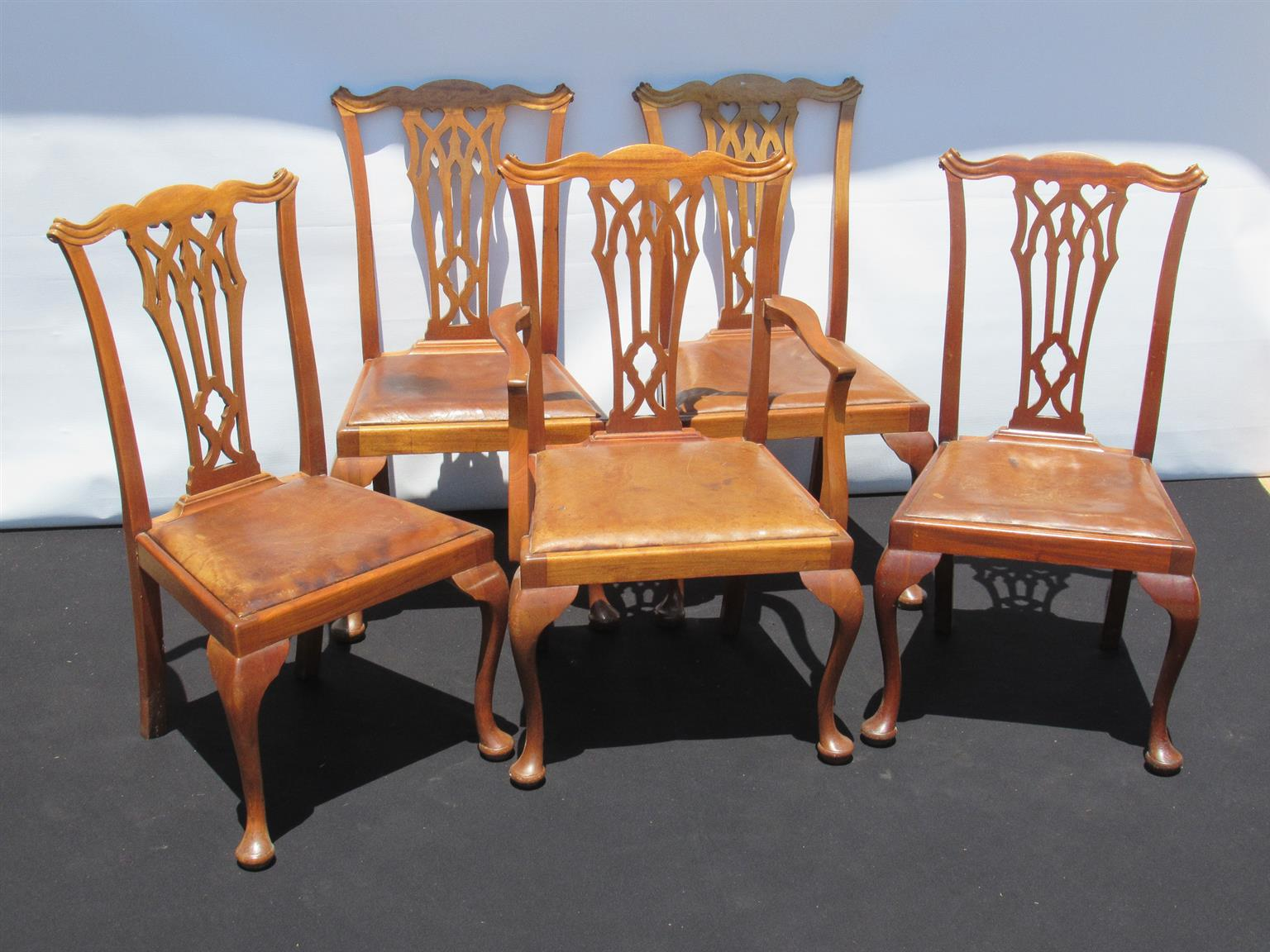 Set Of Five Late Victorian Mahogany Dining Chairs Sku 351