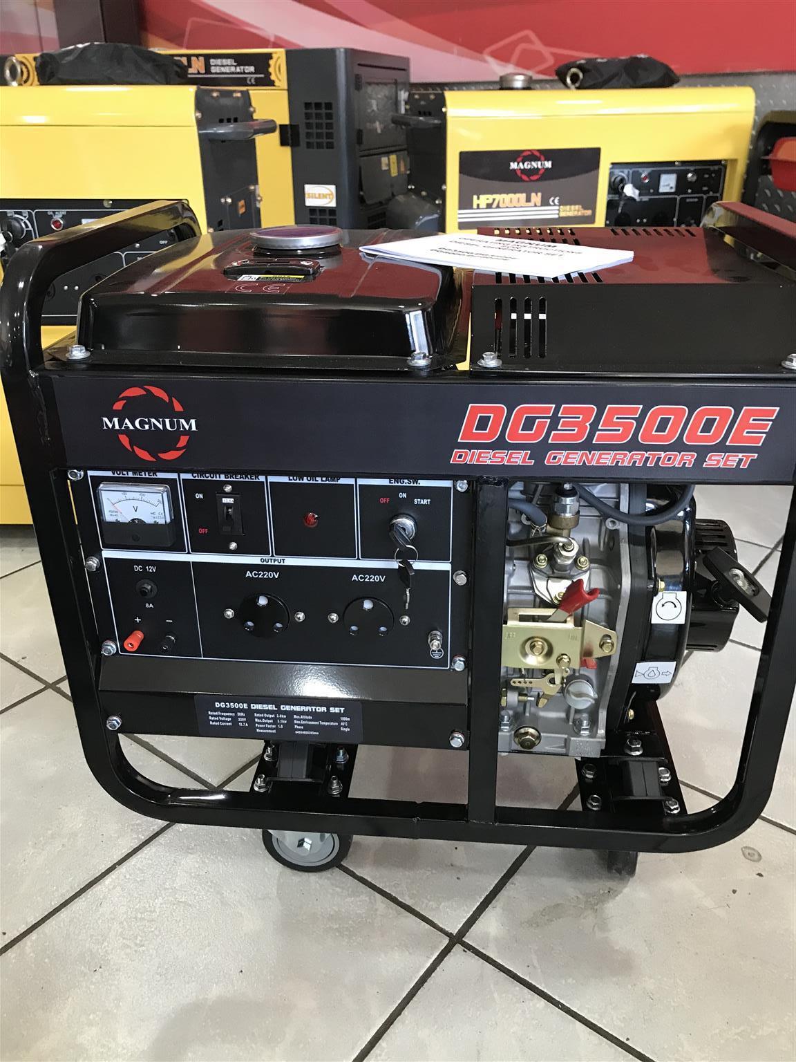 Magnum Diesel generator 3.5kva single phase price incl vat