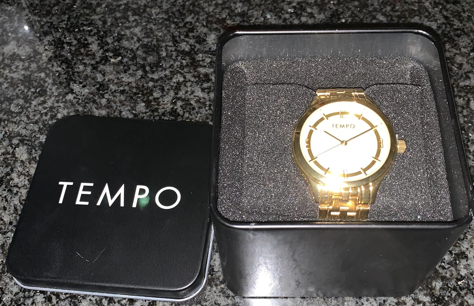 Tempo men's gold watch