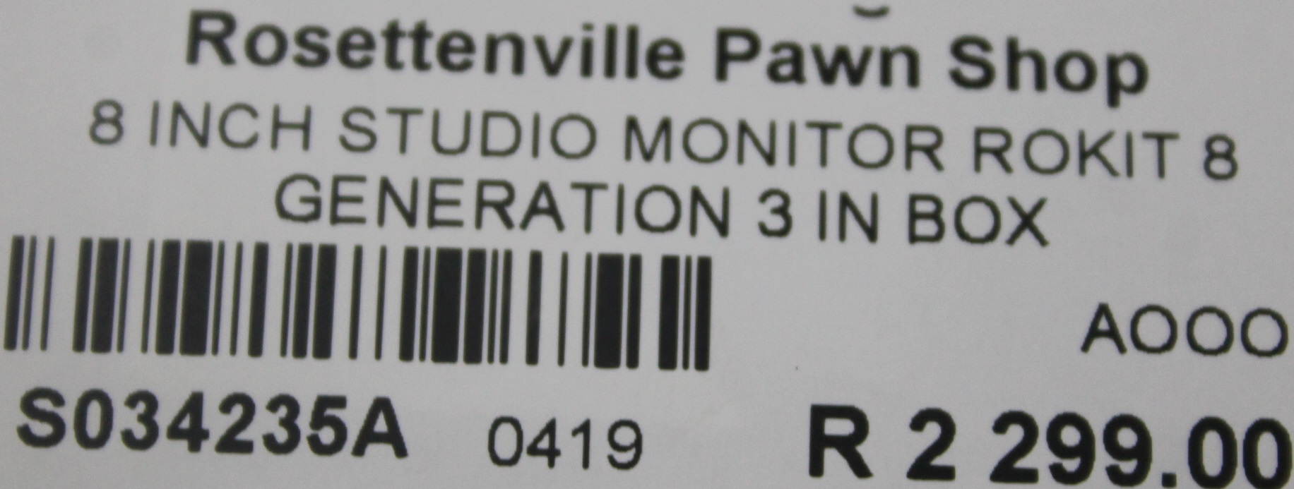 S034235A 8 inch studio monitor rokit 8 generation #Rosettenvillepawnshop