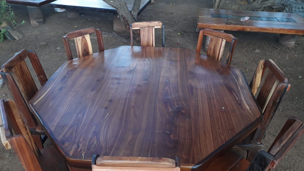 8 sitter table & chairs