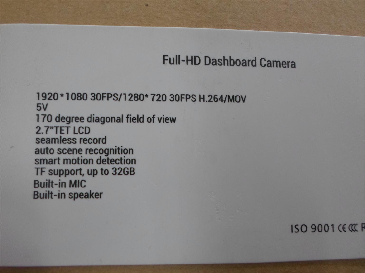 ChaosCam HC1 HD Dashboard Camera