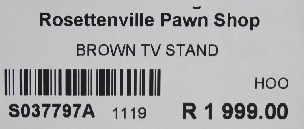 Brown tv stand S037797A #Rosettenvillepawnshop