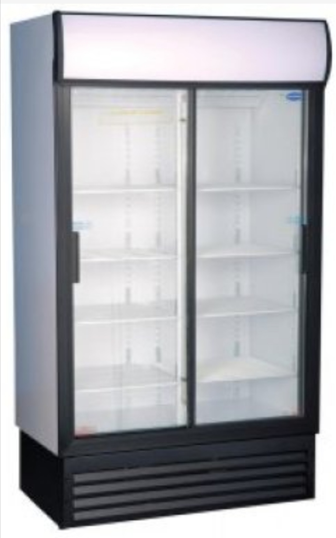 BEVERAGE COOLER DOUBLE DOOR SLIDING