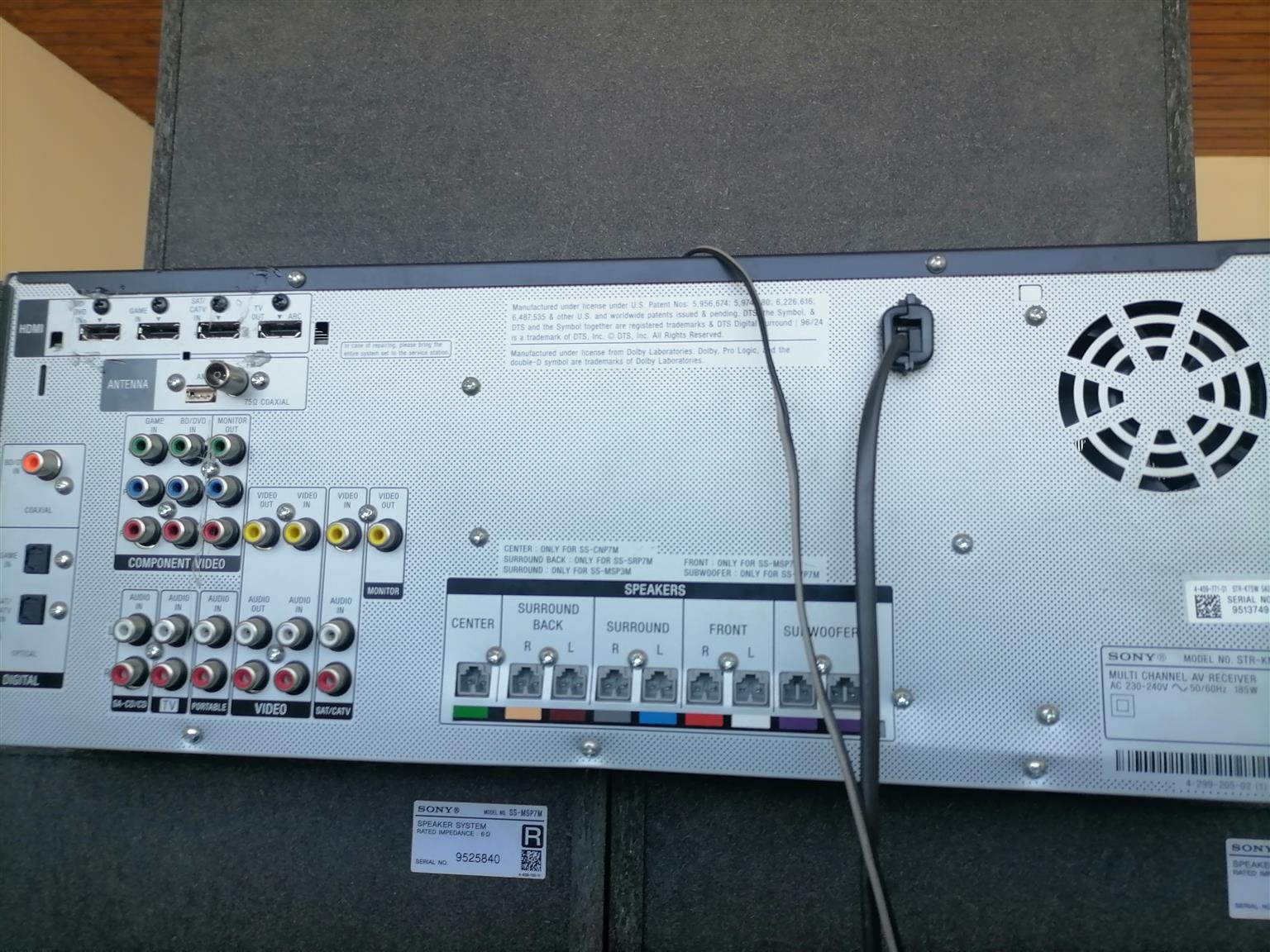 Sony 7.2 surround sound sound for sale