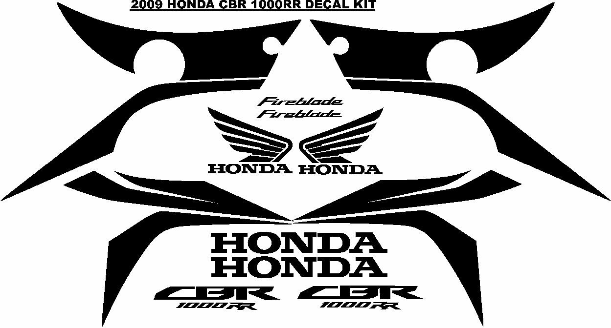 2009 CBR fireblade 1000 RR decals stickers graphics sets