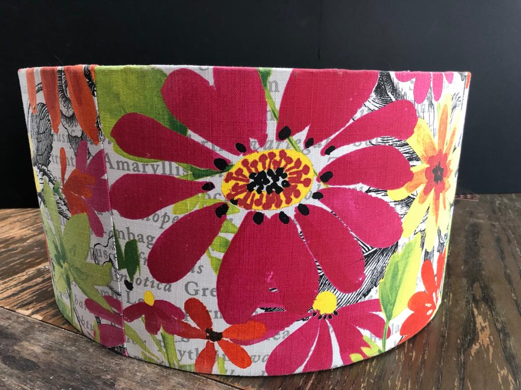 Large Floral Lampshade - throw new light onto your room!