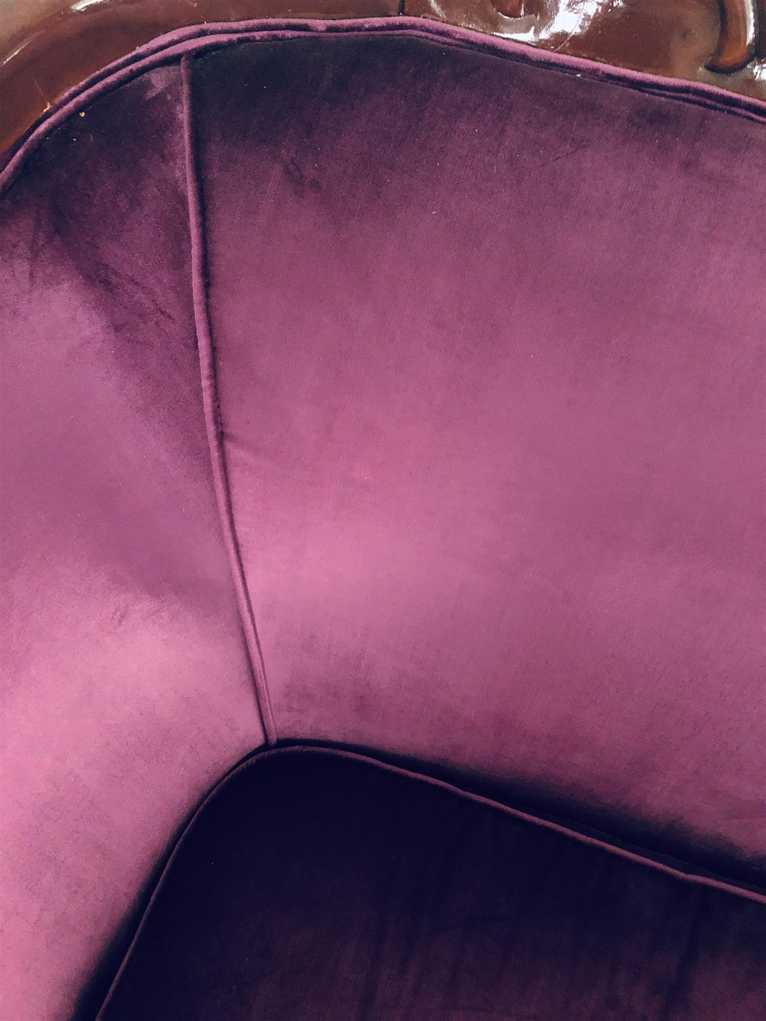 Purple Velvet Victorian couches