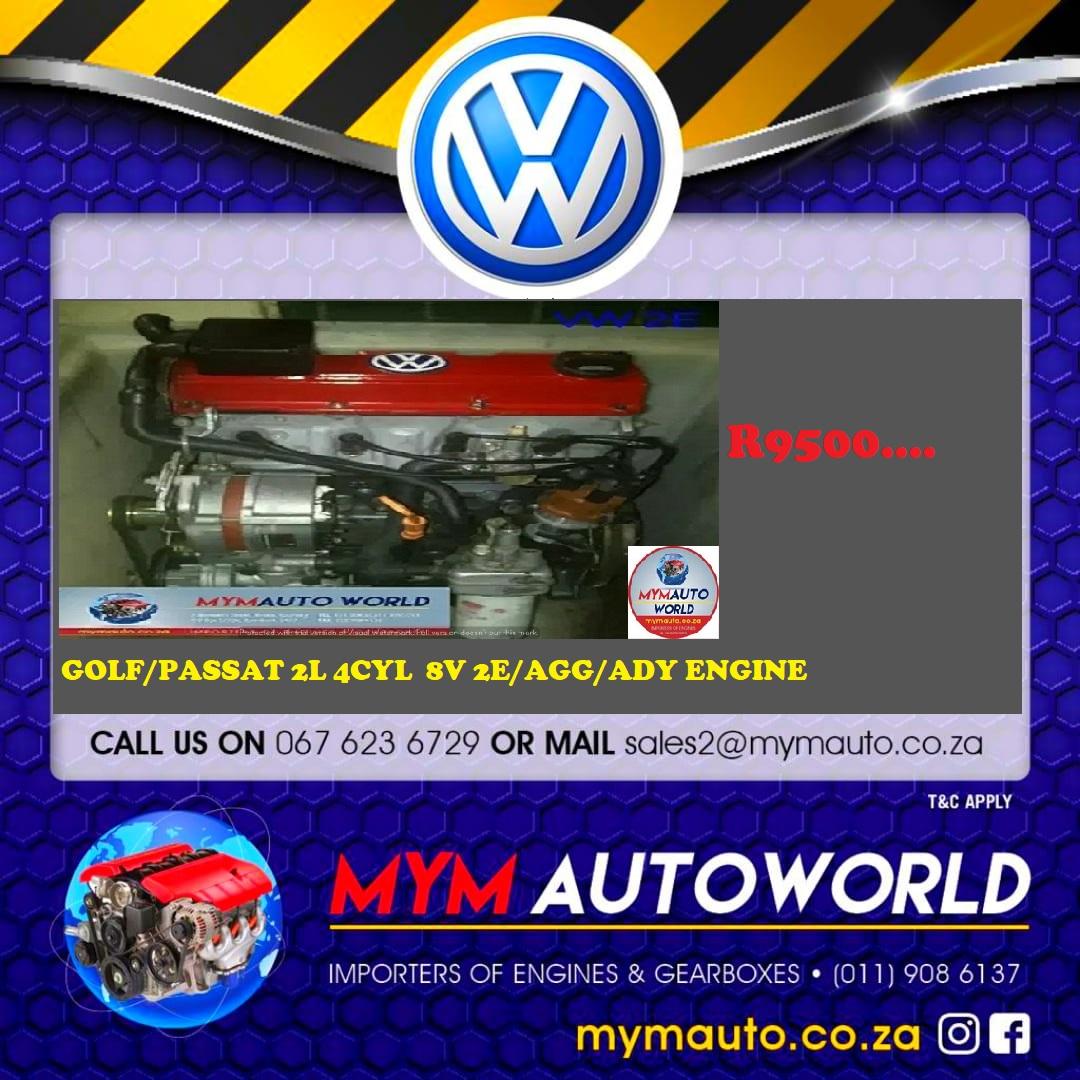 VW 2.0L 4 CYLINDER 8V 2E/AGG/ADY ENGINE