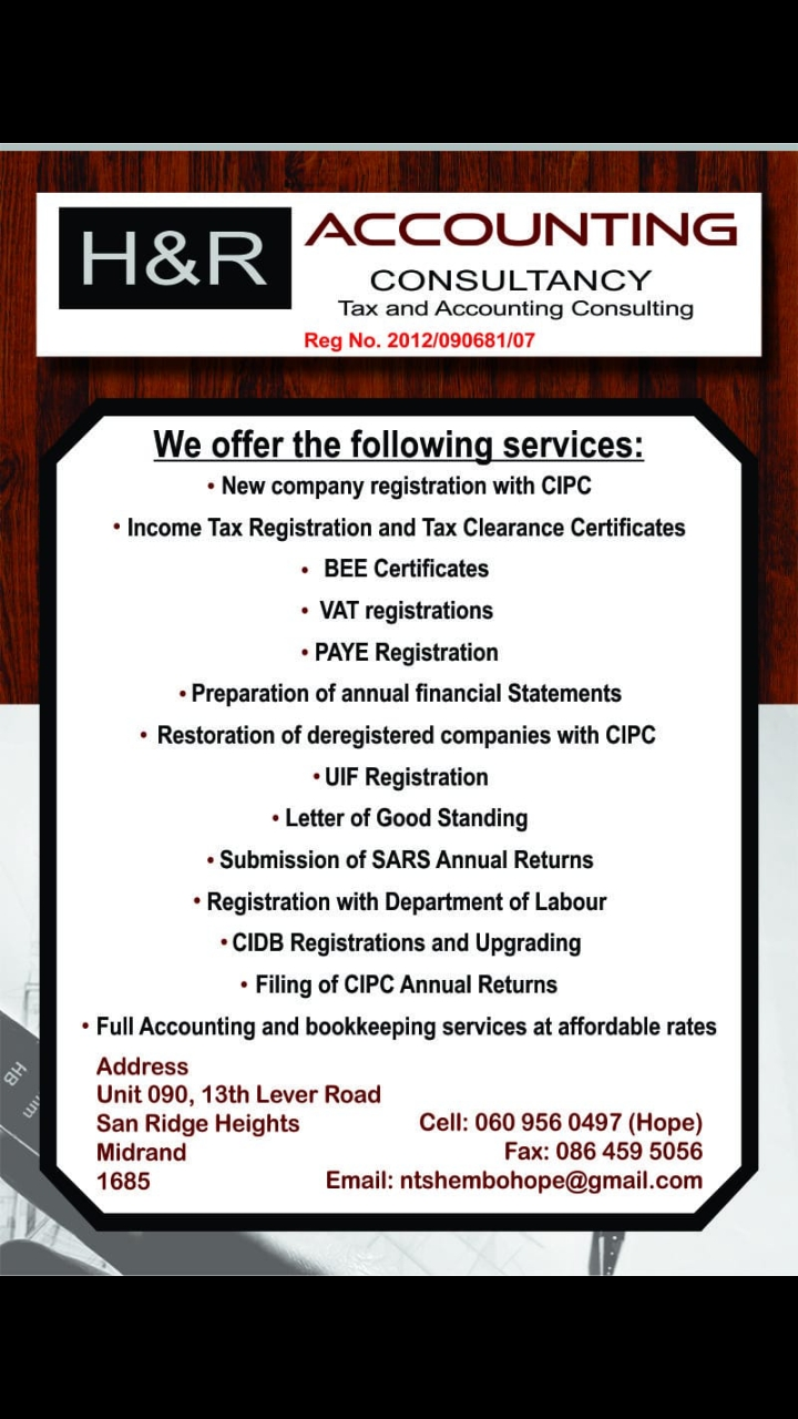 H AND R Accounting Consultancy (Pty)Ltd
