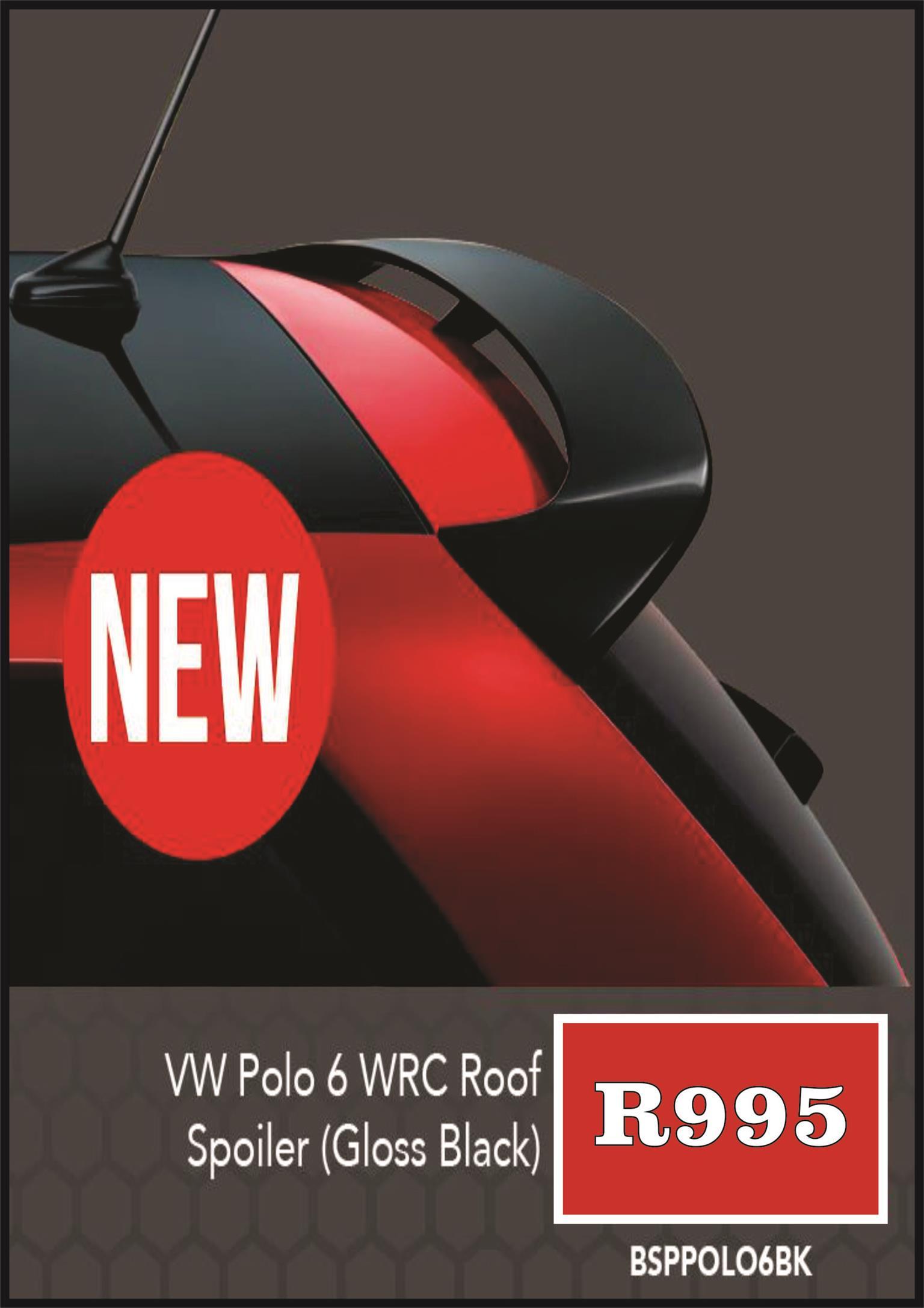 POLO 6 WRC STYLE SPOILER GLOSS BLACK