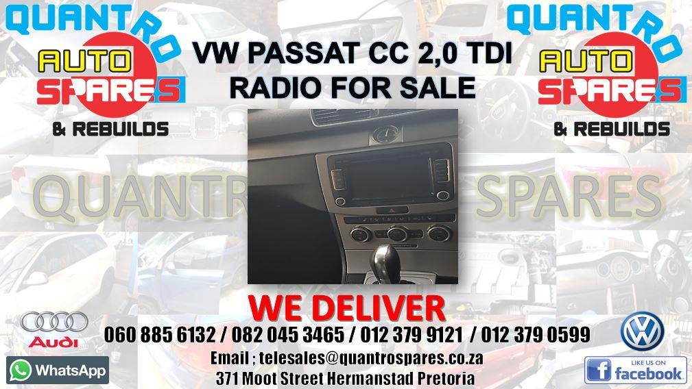 Vw Passat cc 2.0 tdi 2013 radio for sale