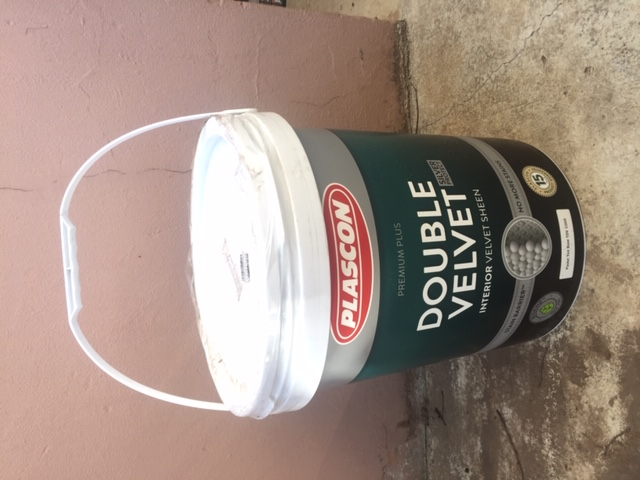 Sealed 20 litre Plascon Double Velvet Interior paint