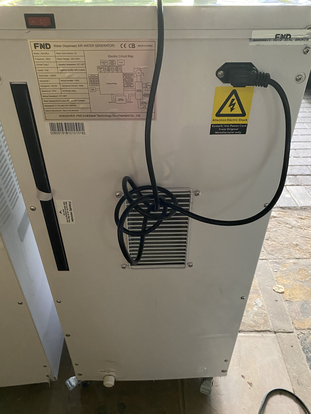 BRAND NEW MITECH AIR TO WATER GENERATOR