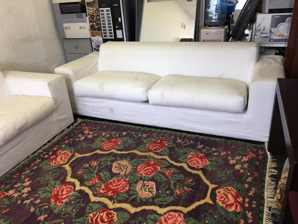 Beautiful and comfy white original Coricraft large couches