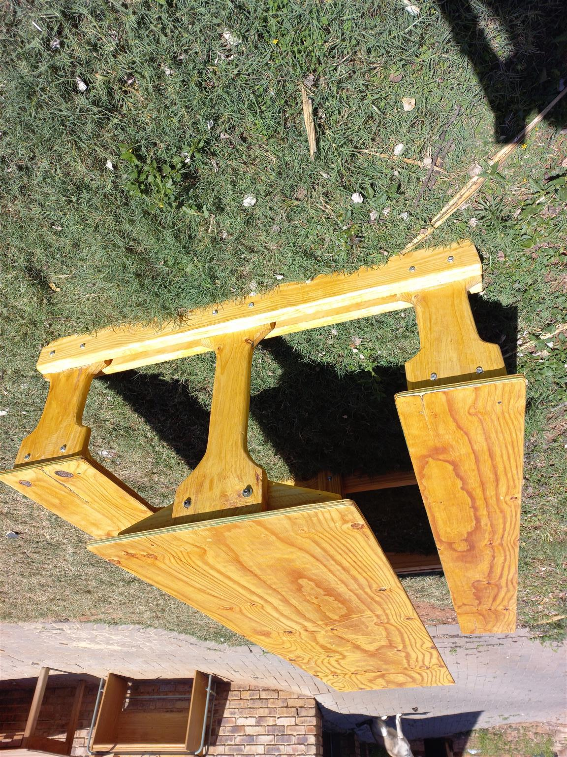 This is not a cheep recycle palette wood table One of a kind Rino custom table c
