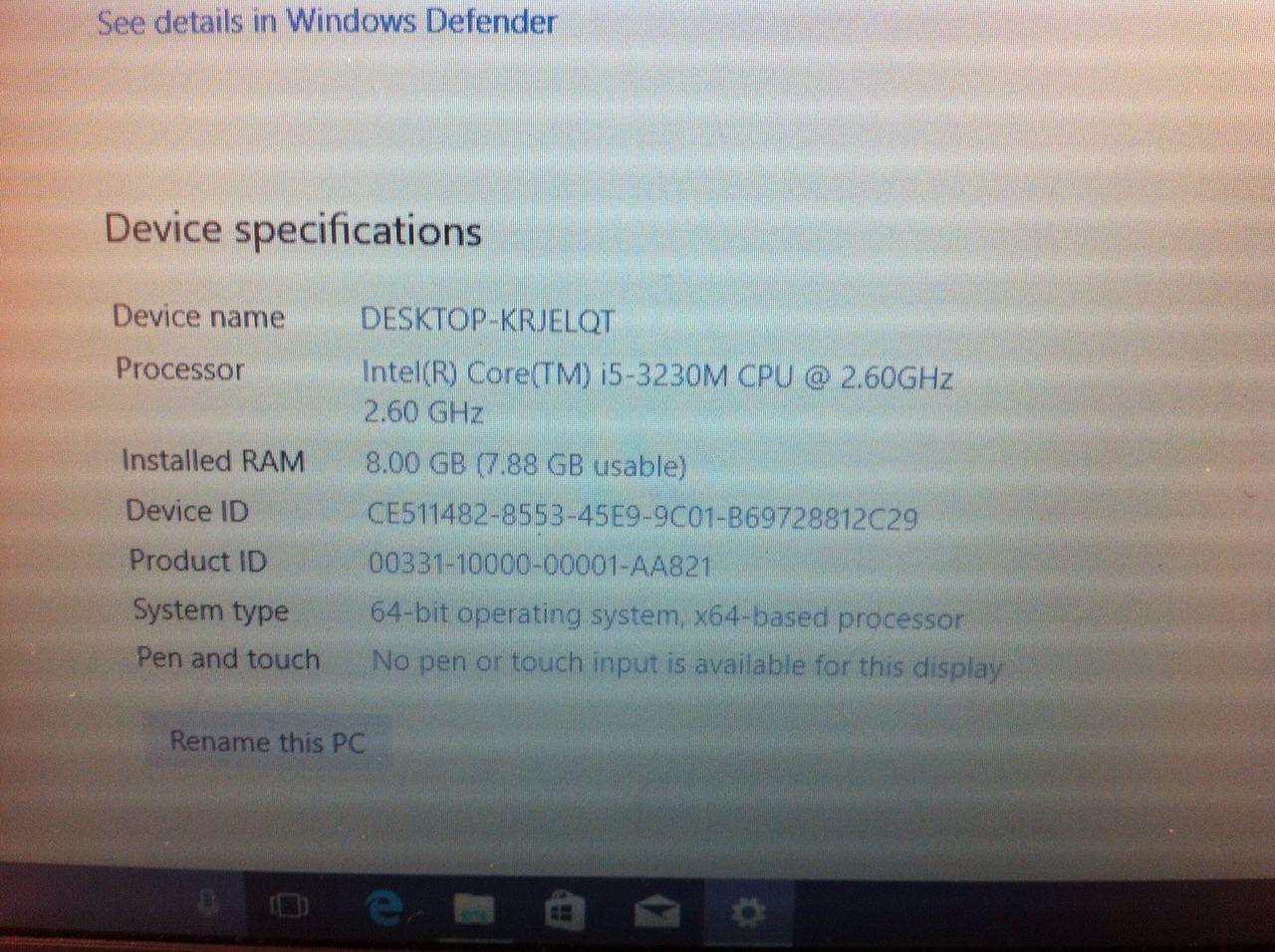 Hp Probook 6570B core i5, 500GB harddrive, 8GB Ram, window 10, R2900