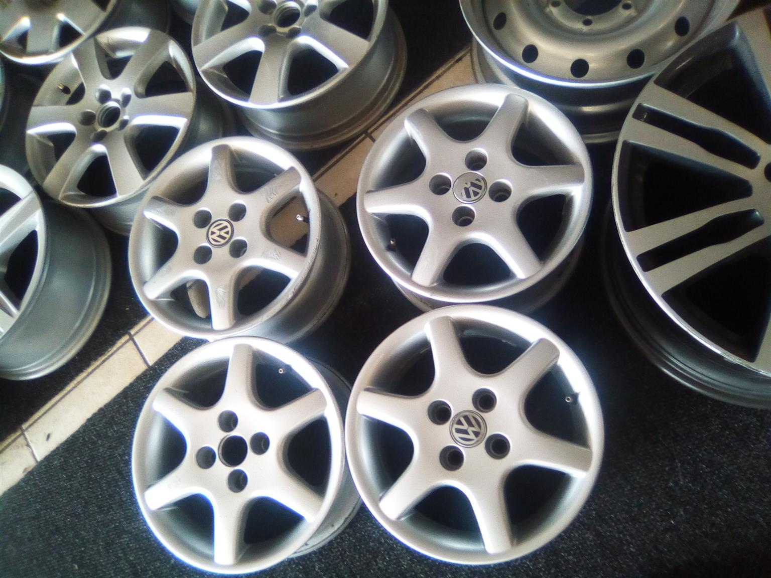14 inch Vw mags with 4x100 pcd without tyres for R1900.