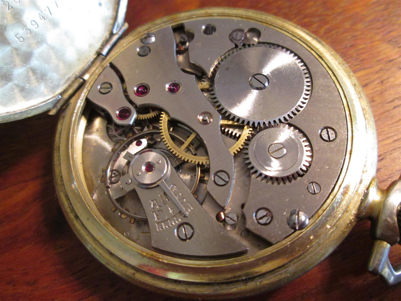 Vintage, antique SWISS MADE AVIA pocket watch, mechanical movement, works fine, timepiece