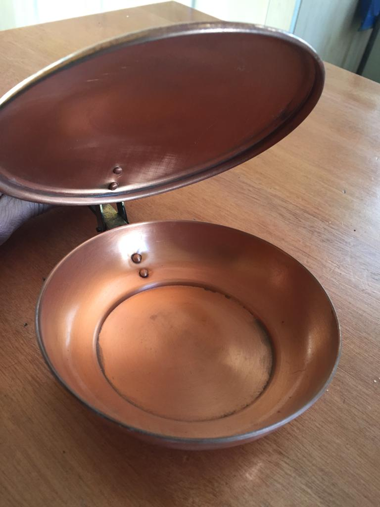 Ornamental and functional Copper bed warmer!