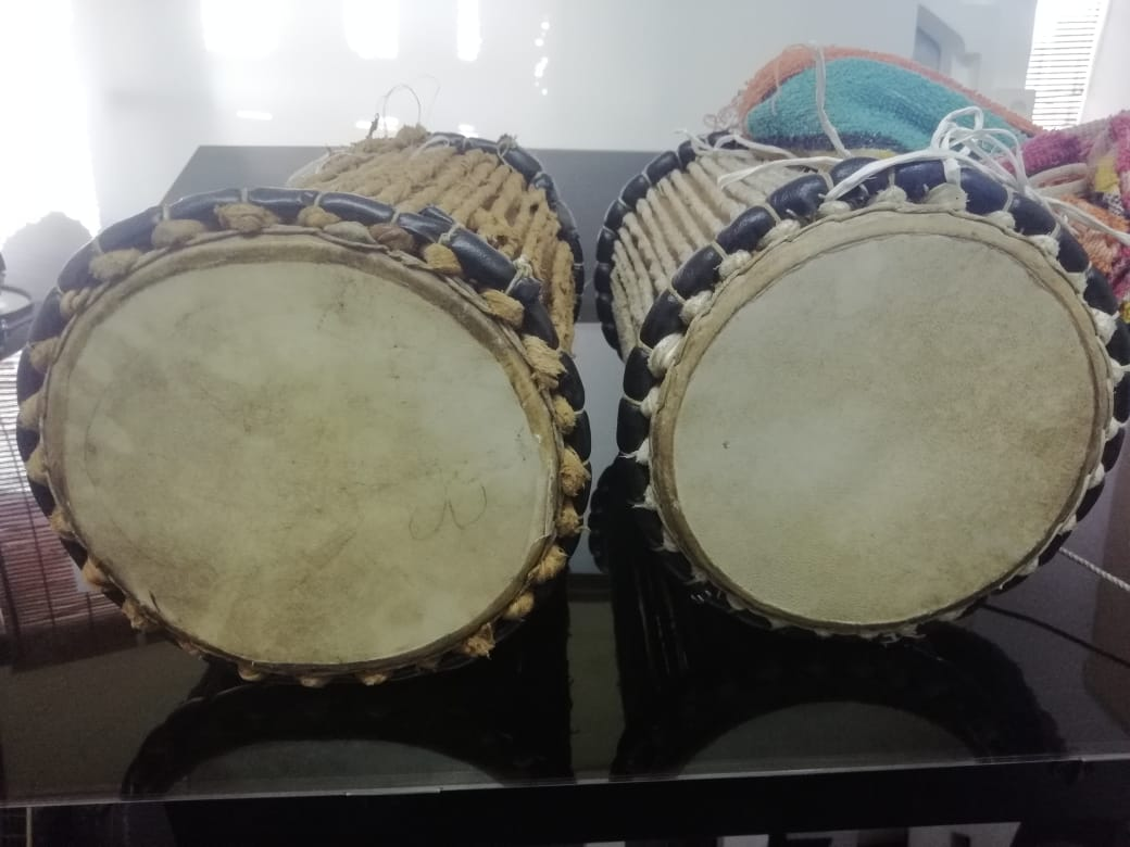 Two (2) Talking Drums available for Sale. 750 for all two
