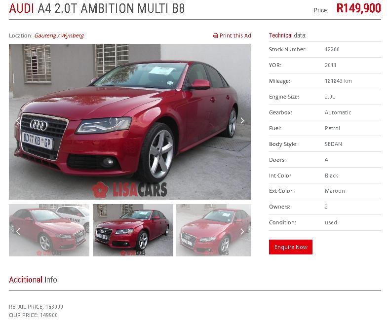 2011 Audi A4 2.0T Ambition multitronic