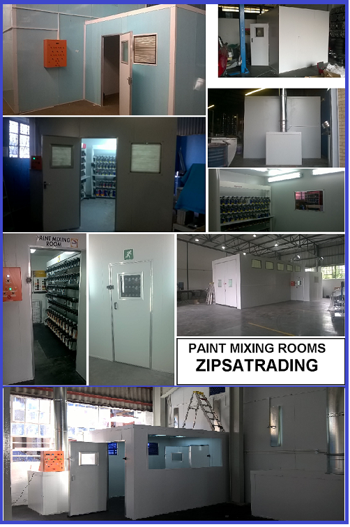 BUDGET SPRAY BOOTH/AREA SPRAY DUST CONTAINMENT - PVC CURTAIN SYSTEM .Suspended or pole mount