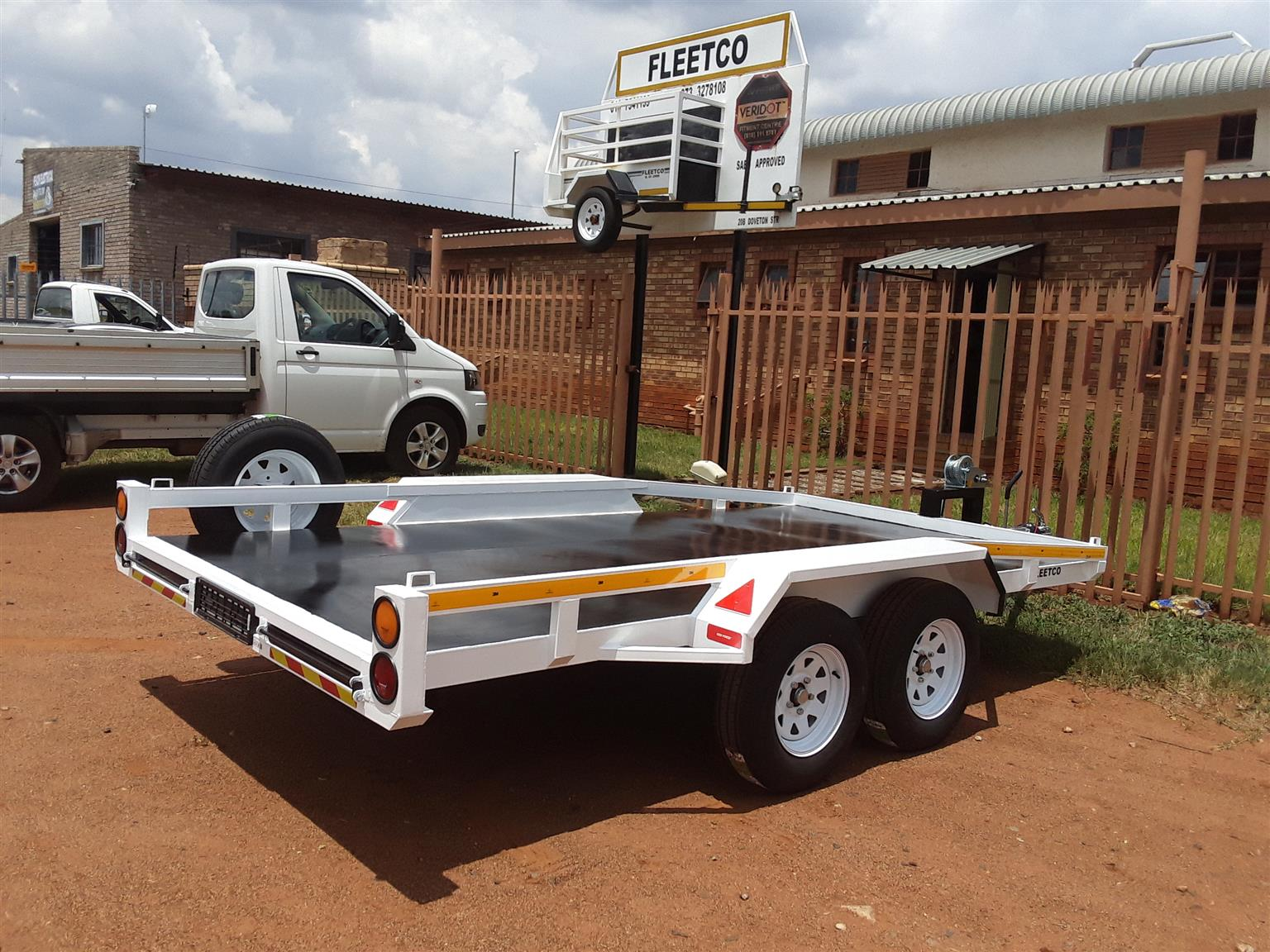 Car trailer with a winch for sale