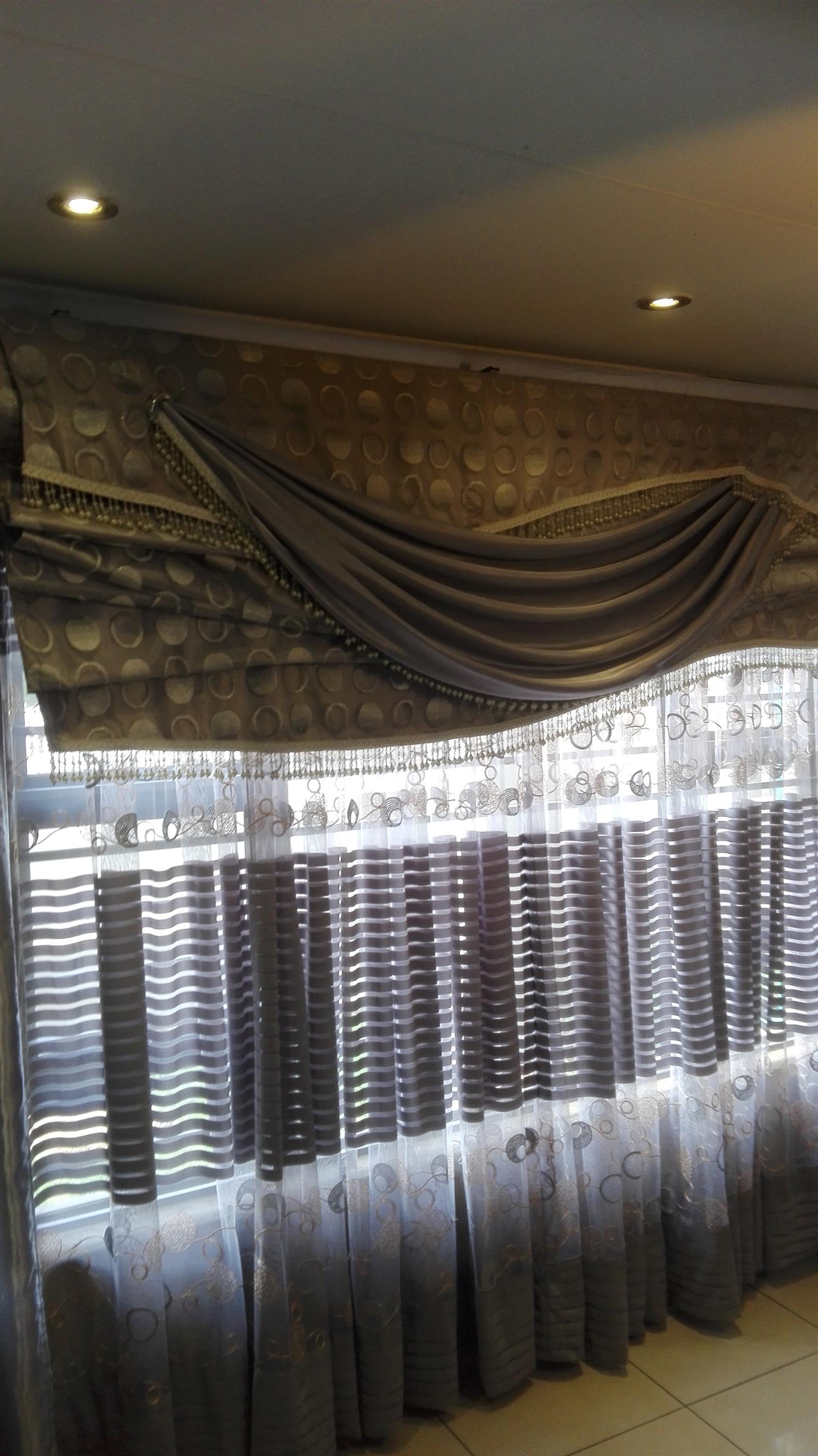 Designer Roll Up Curtains - 2 Units