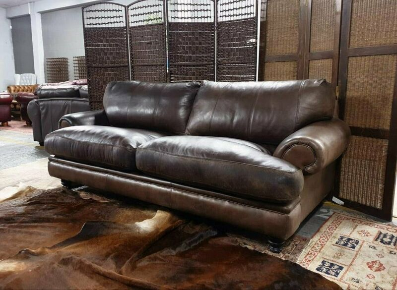 Preloved Genuine Leather Couches Two And Three Seater