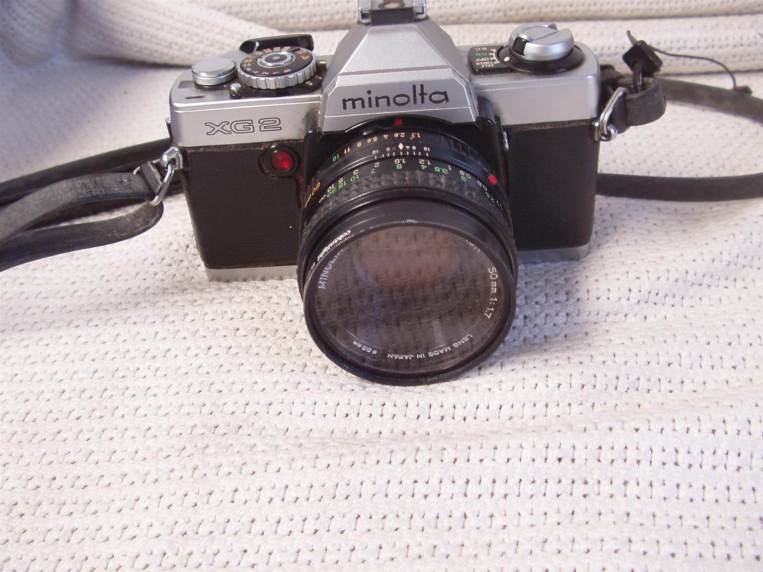 Minolta XG 2 Film Camera with Minolta Rokkor 50mm - in excellent condition