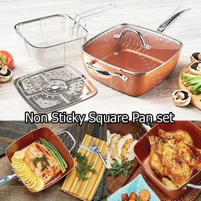 5 Pcs Set Deep Dish Square Pan 9,5
