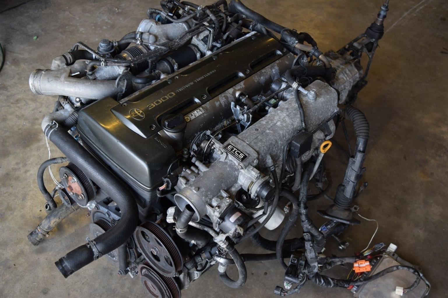 TOYOTA 2JZ GTE 6 SPEED V161 ENGINE SWAP JZA80 SUPRA MK4