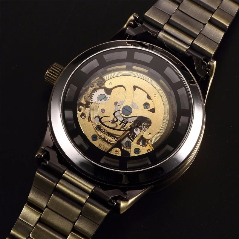 Men's Steampunk Skeleton Automatic Watch