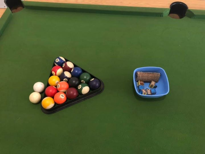 Pool table with all extra goodies and cues