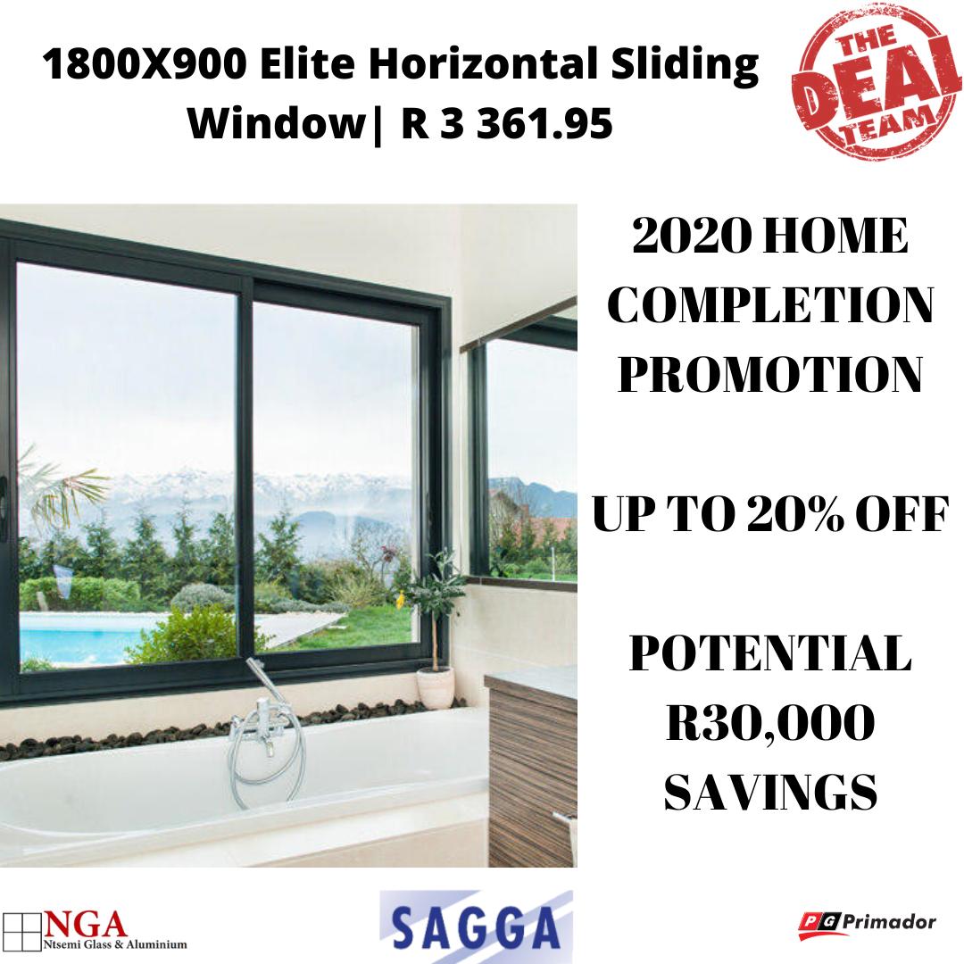 1800X900 Elite Horizontal Sliding Window | 2020 Promo