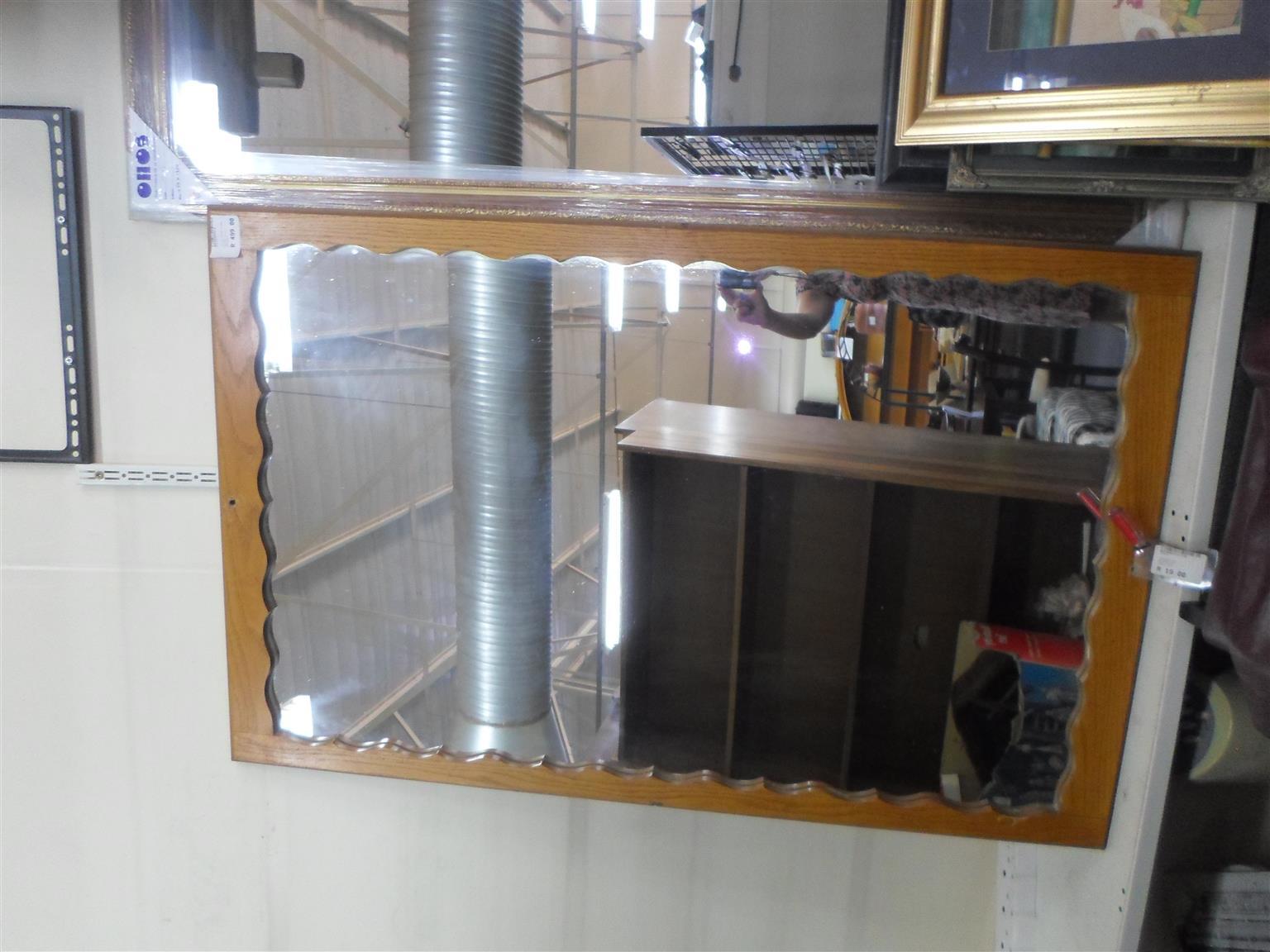 Wooden Framed Mirror - B033048442-3