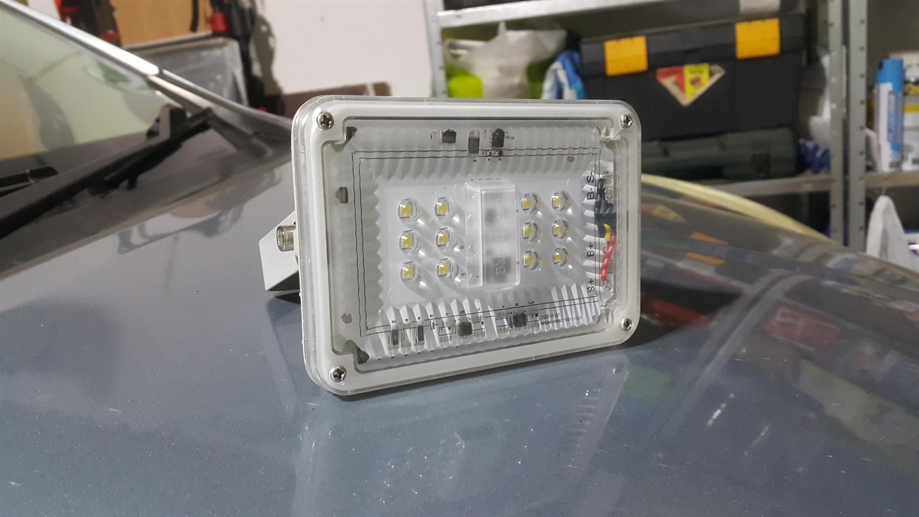 Solar flood light with Japanese LED