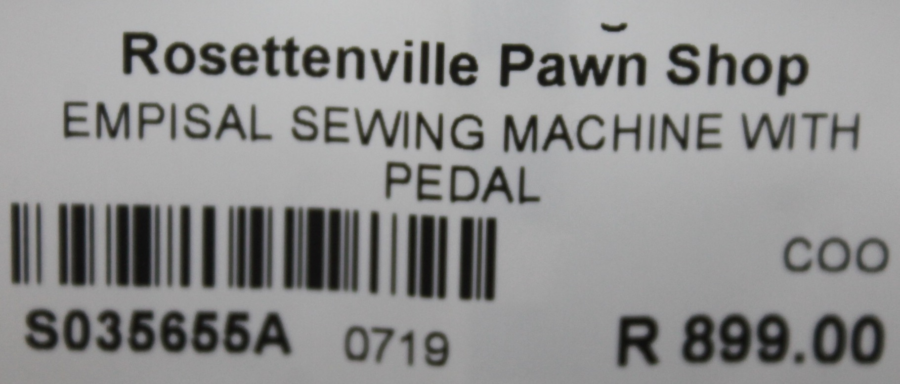 S035655A Empisal sewing machine with pedal #Rosettenvillepawnshop