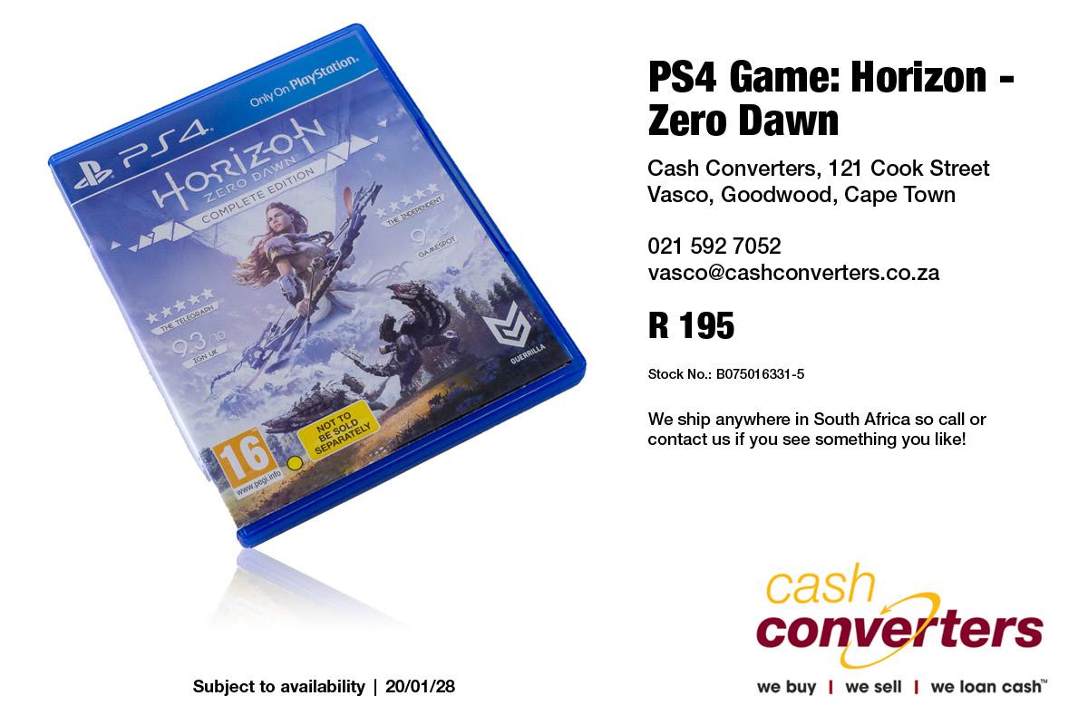 PS4 Game: Horizon - Zero Dawn