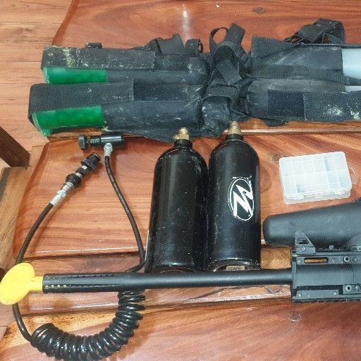 Tippmann Phenom x7 Paintballgun, spider fenix Paintballgun, gamo tactical pellet