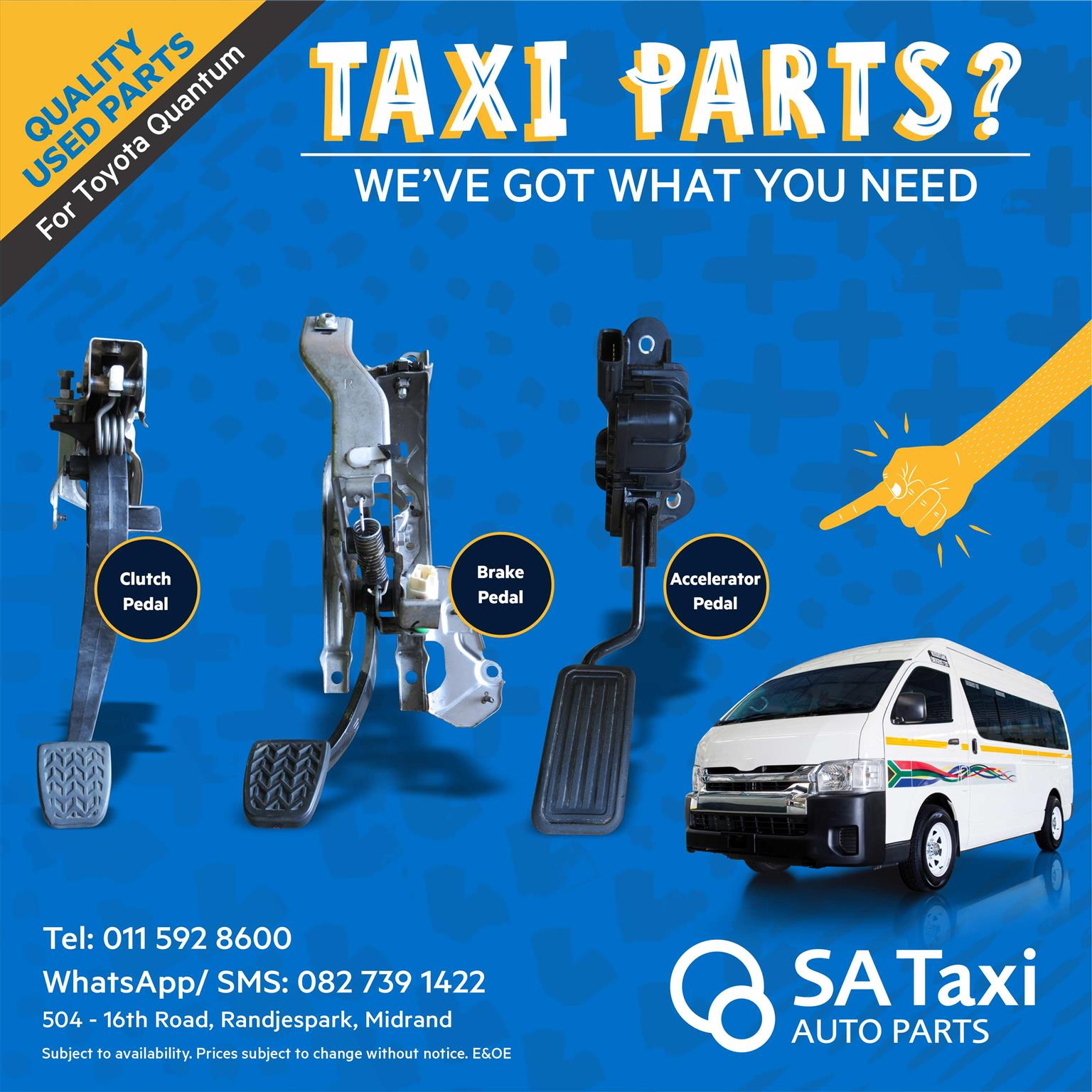 Clutch Pedal suitable for Toyota Quantum