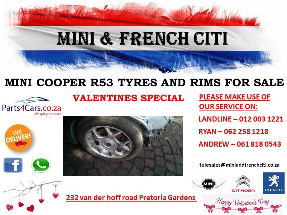 Mini cooper R53 tyres and rims for sale !!