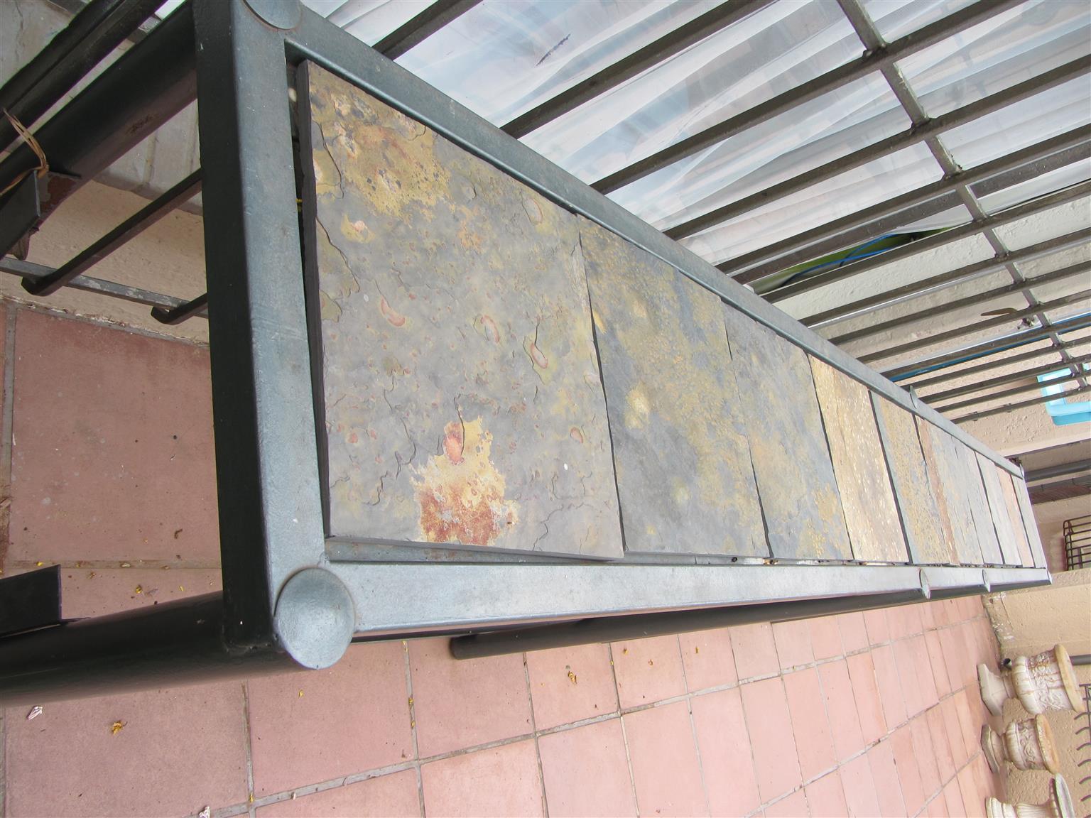 Steel Slate Tile Counter